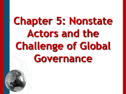 Global Governance (IGOs and NGOs)