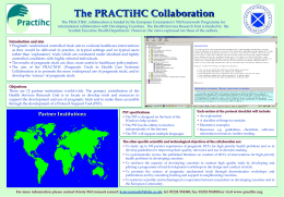 The PRACTIHC collaboration
