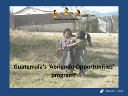 Investment in vulnerable girls as a national development