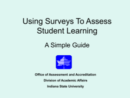 Using Surveys To Assess Student Learning