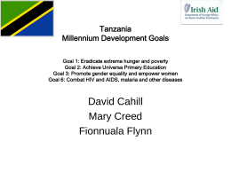 Tanzania Millennium Development Goals