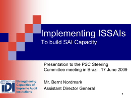 Building Capacity in SAIs - Forside