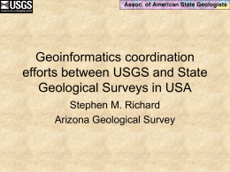 Geoinformatics coordination efforts between USGS and …