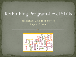 Rethinking Program-Level SLOs