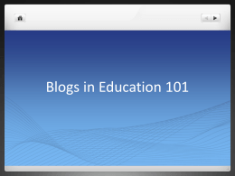 Blogs in Education 101 - St. Cloud State University