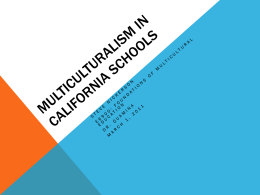 Multiculturalism in California Schools