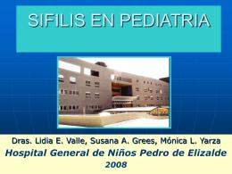 SIFILIS EN PEDIATRIA