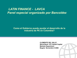 CLEMENTE DEL VALLE - Latin American Private Equity …