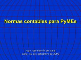 Normas contables argentinas Dificultades planteadas en su