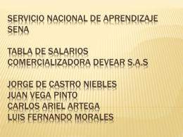 SERVICIO NACIONAL DE APRENDIZAJE SENA TABLA DE …