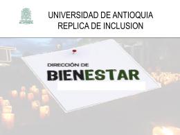 Diapositiva 1 - Inclusion en la UdeA