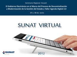 SUNAT VIRTUAL - Oficina Nacional de Gobierno …