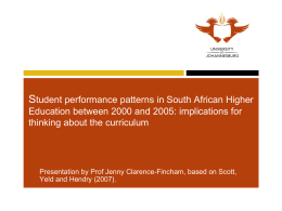 Student Performance Patterns