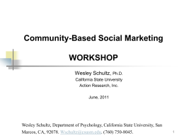 Community Based Social Marketing Project to Promote …