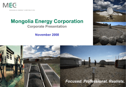 Mongolia Energy Corporation