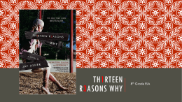 13 Reasons Why - Ms. Flater's Classroom Website