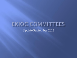 EKIOC Committees