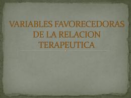 VARIABLES FAVORECEDORAS DE LA RELACION …