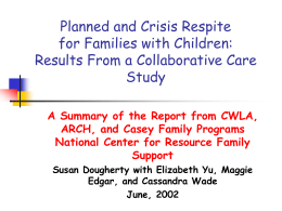 CWLA Child Welfare League of America
