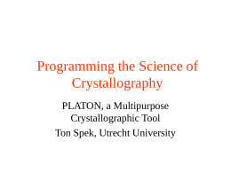 Programming the Science of Crystallography
