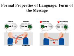 Formal Properties of Language