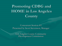Promoting CDBG and HOME in Los Angeles County