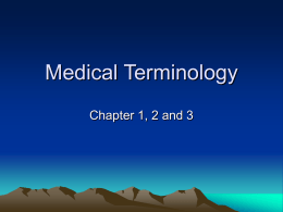 Medical Terminology - Napa Valley College