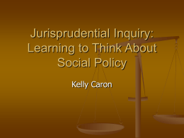 Jurisprudential Inquiry: Learning to Think About Social …
