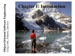 Lecture for Chapter 1, Introduction to Software Engineering