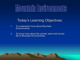 Today's Learning Objectives: