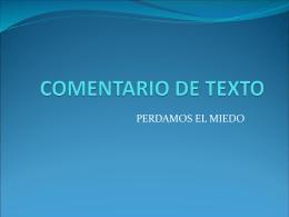 COMENTARIO DE TEXTO