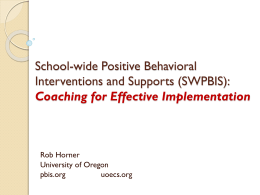 School-wide Positive Behavioral Interventions and …