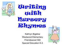Writing with Nursery Rhymes