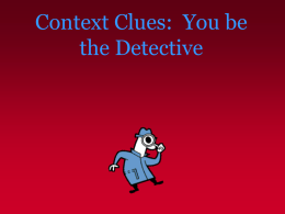 Context Clues - Jefferson Township Public Schools