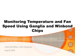 Monitoring Temperature and Fan Speed Using Gaglia …