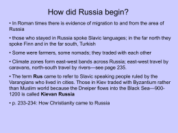 How did Russia begin? - Aurora Public Schools