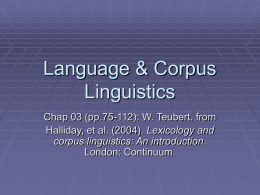 Language & Corpus Linguistics