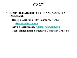 CS271 - College of Engineering