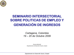 SEMINARIO INTERSECTORIAL SOBRE POLITICAS DE …