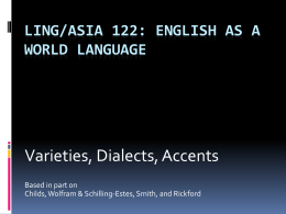 Ling/Asia 122: English as a World Language