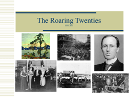 The Roaring Twenties CHC2D1
