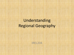 Understanding Regional Geography