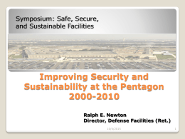 Improving Security and Sustainability at the Pentagon …