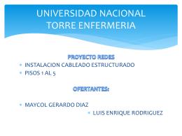 UNIVERSIDAD NACIONAL TORRE ENFERMERIA