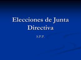 Elecciones de Junta Directiva