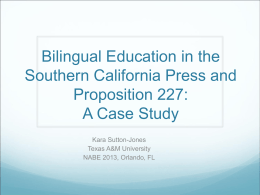 Bilingual Education in the Media