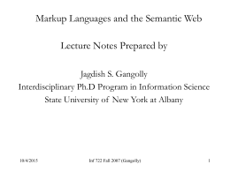 Semantic Web - University at Albany - SUNY