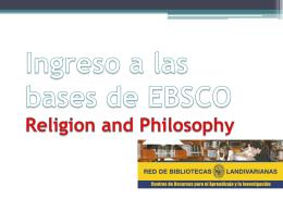Ingreso a las bases de EBSCO