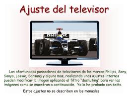 AG2- Ajustes del televisor