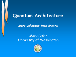 Quantum Wires How control and decoherence effect the